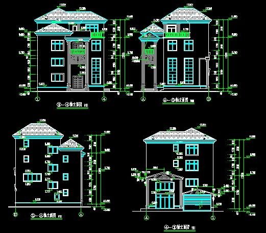 别墅立面图3