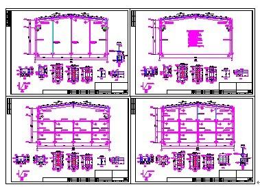 24米跨度钢结构图纸 钢结构行车梁图集 24平米卧室装修 二层钢架结构