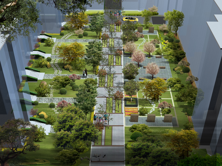 图纸 园林设计图 某小区宅间景观效果  上传时间:2010-03-16 所属分类