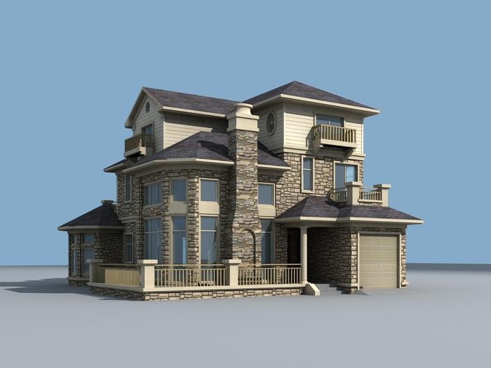 全套欧式框架结构别墅建筑和结构施工图纸 高档三层现代欧式风格精图片