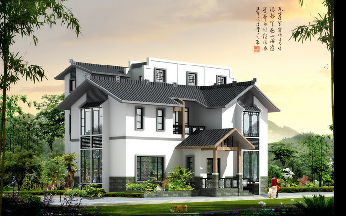 中式民族江南风格别墅图片
