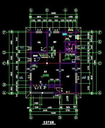 别墅建筑施工图_cad图纸下载-土木在线