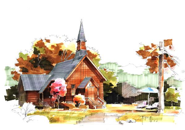 园林设计图 景观培训手绘图