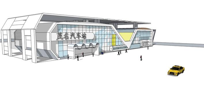 江西某镇四层综合客运汽车站建筑设计方案图纸