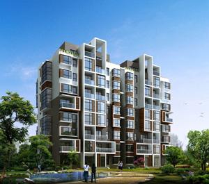 现代高层住宅效果图 欧式高层住宅效果图 高清图片