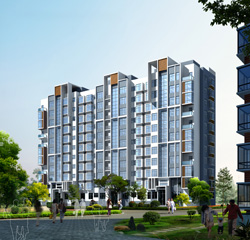 现代小高层住宅效果图 高清图片