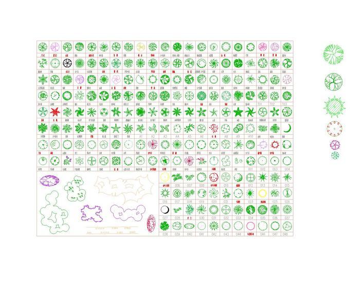 cad植物图例