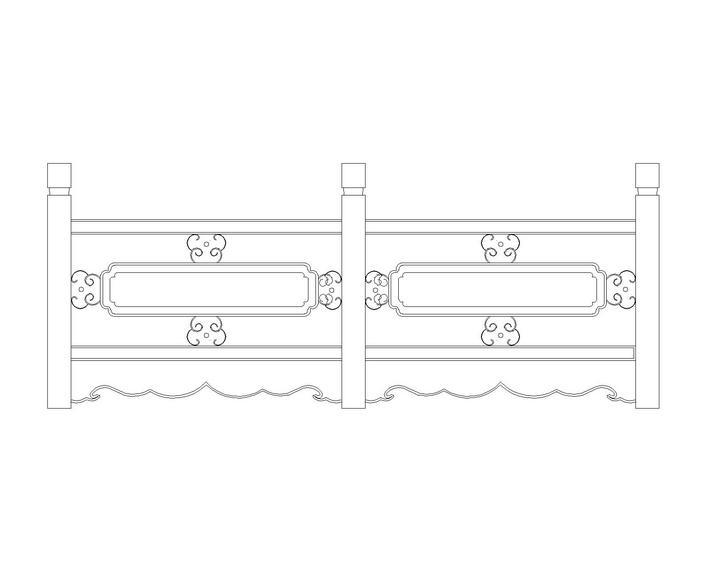 中式栏杆图库_cad图纸下载-土木在线