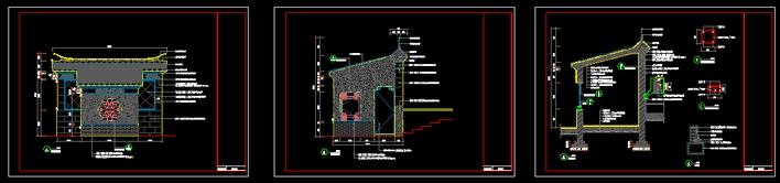 图纸 园林设计图 中式岗亭  上传时间:2010-03-25 所属分类:园林设计