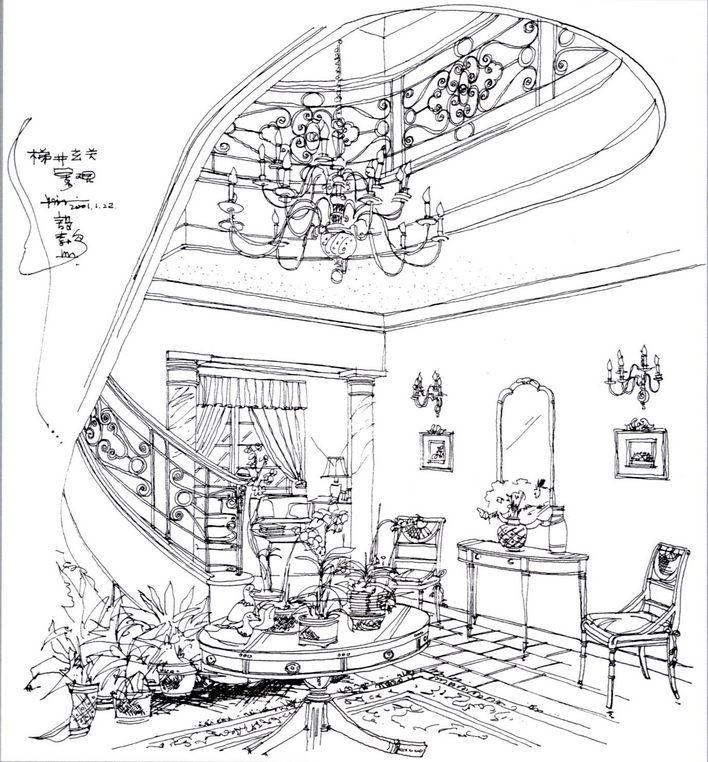 手绘室内图纸图片展示cad道具图纸图片