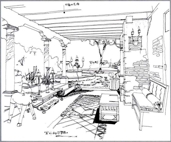 手绘效果图 室内手绘效果图
