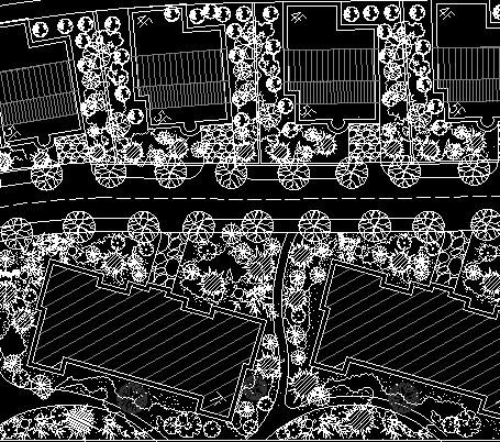 成都置信未来广场竣工图(成都市风景园林规划设计院) 锦绣江南小区