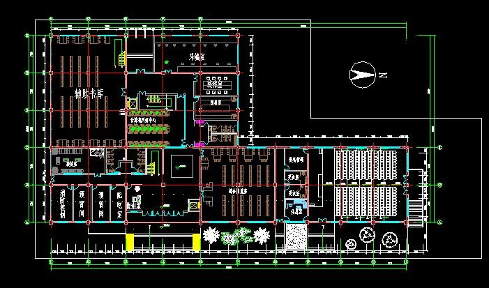 大二建筑学作业 图书馆设计图片