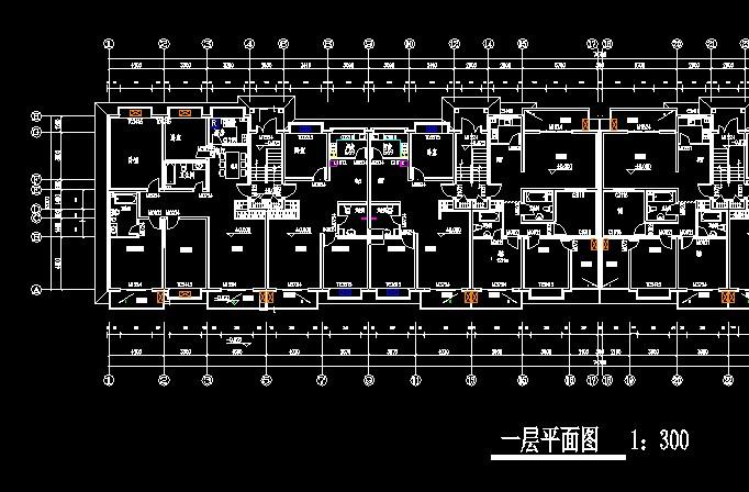 6层住宅建筑施工图_cad图纸下载-土木在线