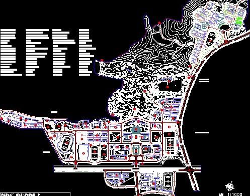 师范大学校园规划平面图CAD图纸