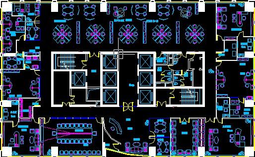 建筑图纸  办公空间   办公平面  相关专题:办公空间快题设计 办公图片