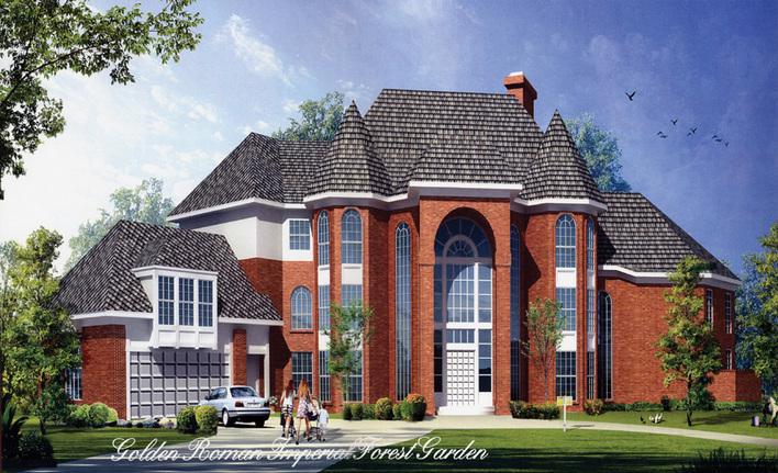 共300张  花园洋房奢华欧式四层别墅装修图(含效果图,共63张) 中式