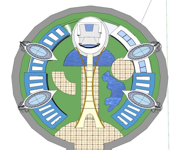图纸 建筑图纸  中央广场    中央广场设计圆形可以借鉴参考!