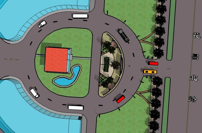 某公园主入口设计效果图su