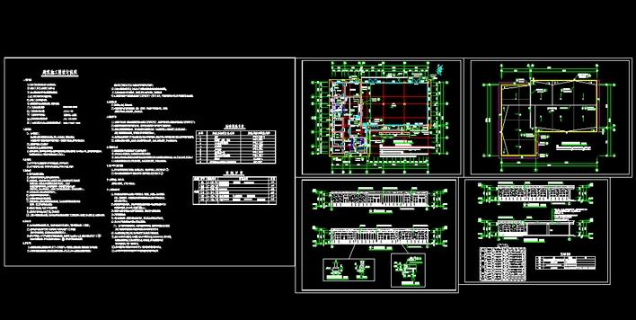 食堂装修施工图 食堂cad施工图 食堂建筑施工图  所属分类:食堂设计