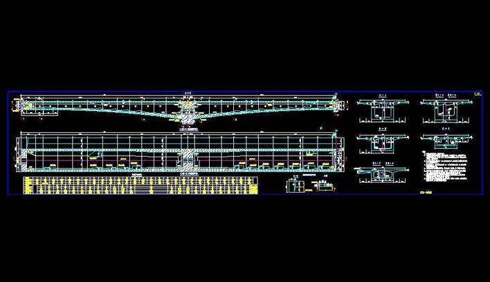跨径45+80+45米悬浇连续梁桥样图_cad图纸下图纸v图纸的吹风机图片