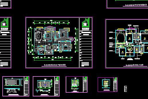 图纸 建筑图纸  金碧豪庭cad施工图             一套商品房施工图
