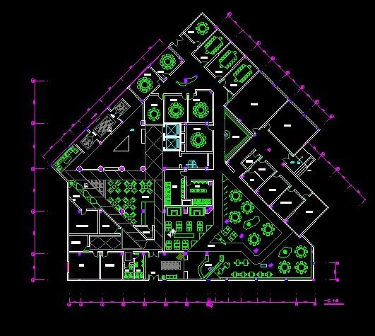 图纸 建筑图纸  酒店室内设计   酒店室内的简单布置与结构  相关专题