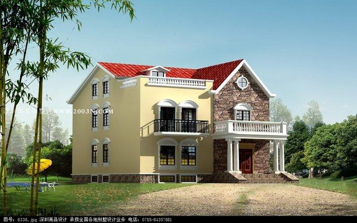 衡阳市某私人别墅建筑设计施工图纸(毕业设计) 私人独栋别墅局部3层