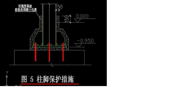 景观 各种钢骨混凝土柱(ac)柱脚构造示意详图 全国民用建筑工程设计