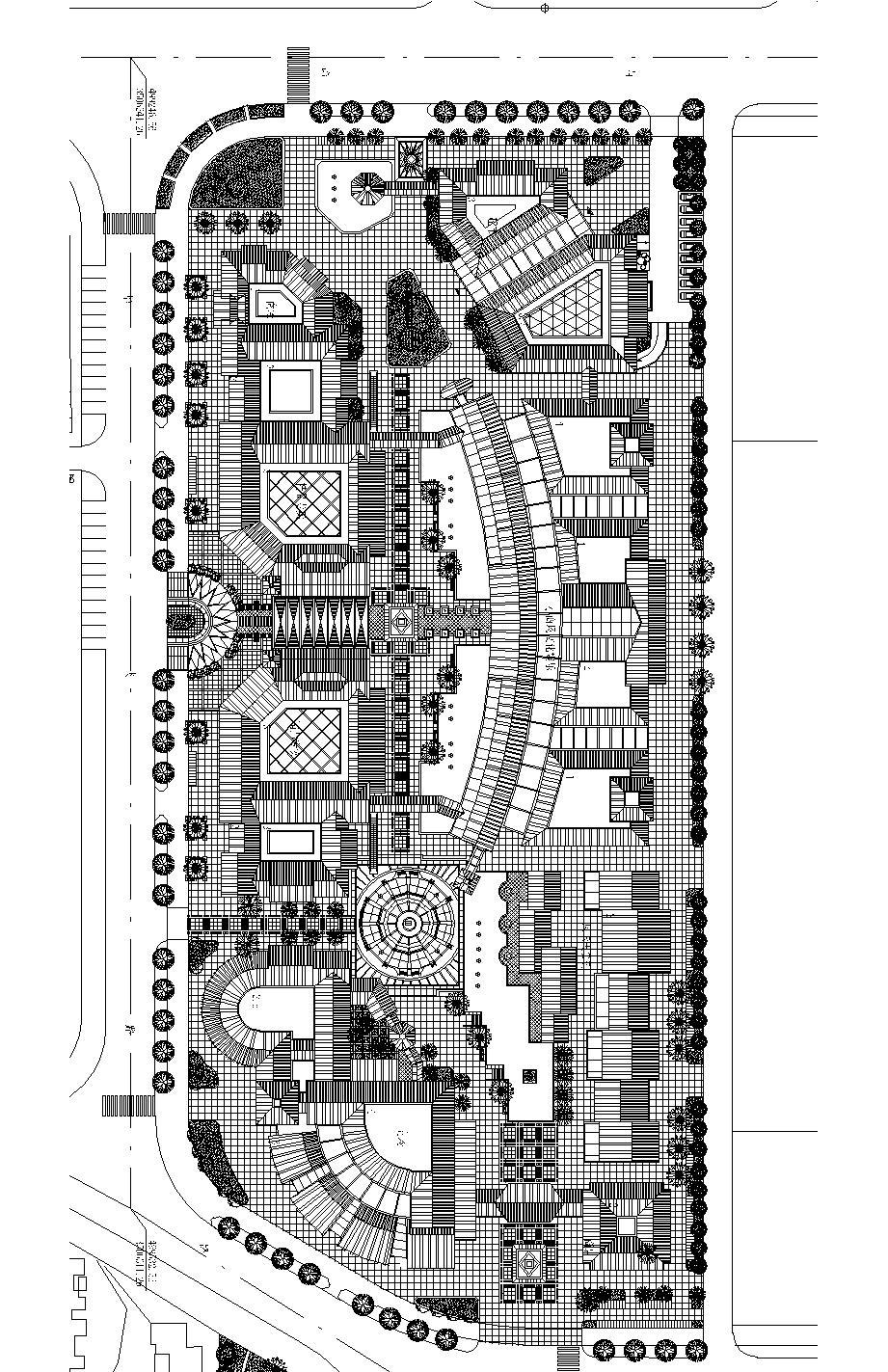 步行街设计图片