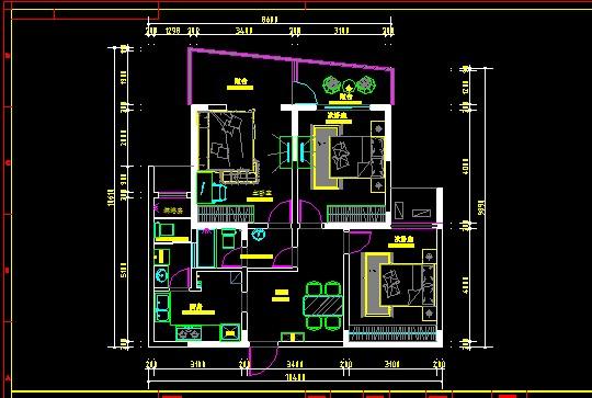 室内设计平面布置常用家具图块集合 布置户型方案常用室内平面素材