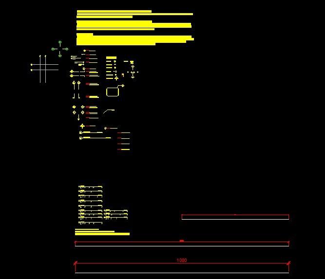 平面 各种 索引/比例尺及各种平面索引符号