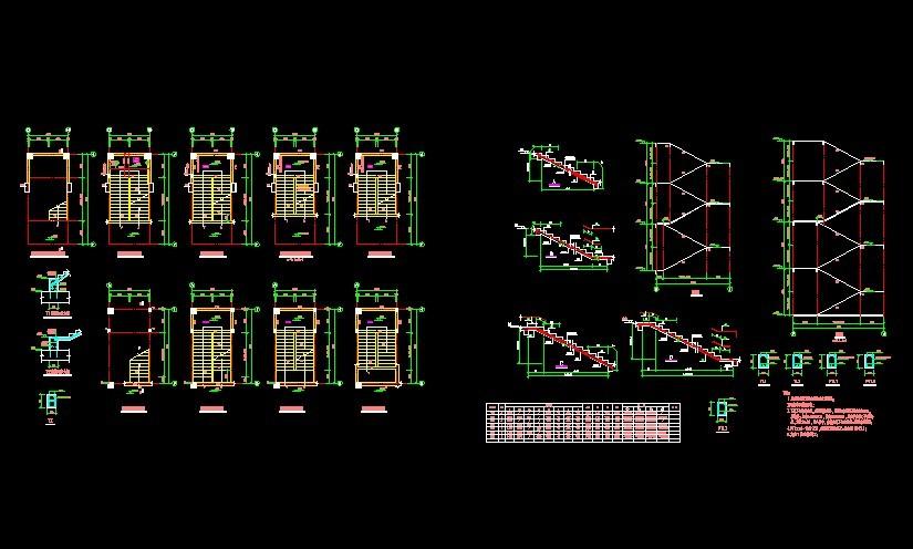 楼梯剖面图画法步骤
