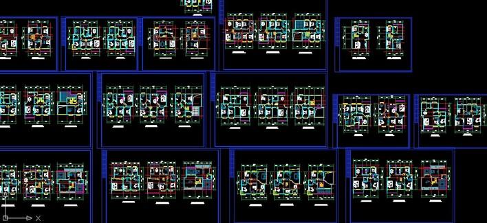四房两厅CAD户型图集锦