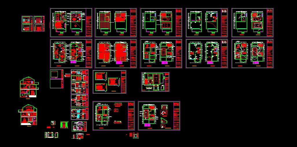 某三层别墅奢华欧式装修图全套100多张 小型别墅全套装修图(平面,立面