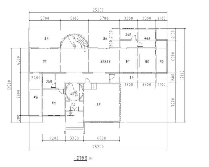 我想找一套建筑意思建筑面积1000以内图纸图纸t代表什么图片