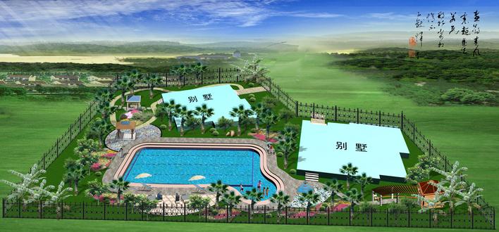 别墅游泳池施工设计图展示