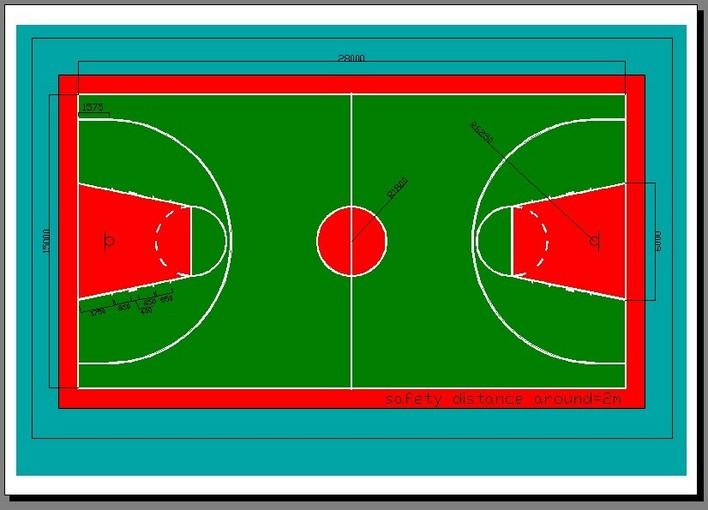 标准篮球场(完善之后的)