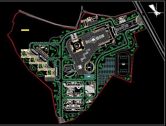 中学总平面图cad 中学学校cad设计总平面图 中学学校设计总平面图