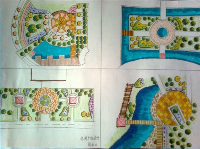 休闲广场平面图