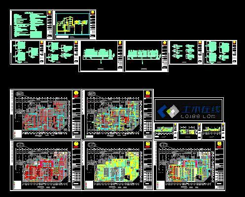超市建筑设计规划图-超市电气设计施工图