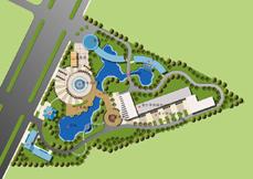三角绿地规划及效果图图片