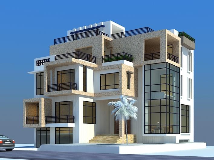 现代别墅; 三层现代别墅设计图建筑 结构 农村住宅自建房屋施工图13米
