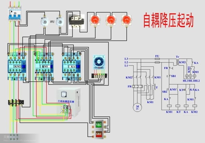 电机降压启动图纸