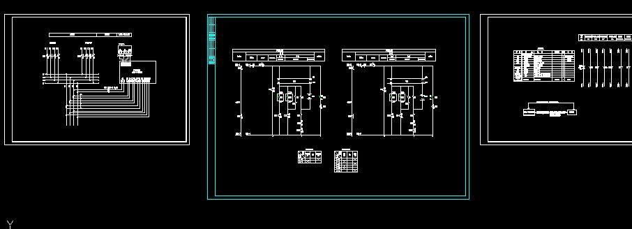 接线图 二进二出10kv双电源一二次原理设计 施耐德双电源自动切换系统