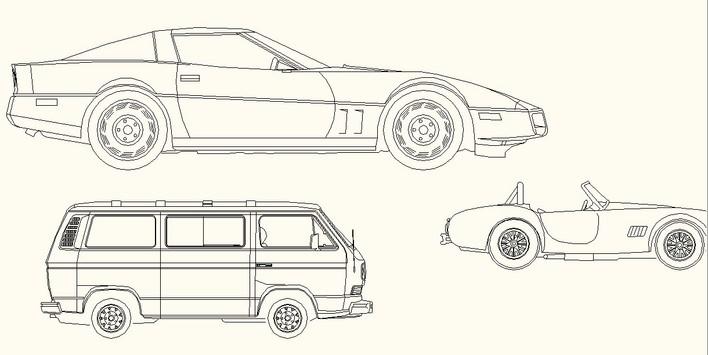 小汽车cad版_cad图纸下载-土木在线