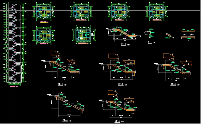 号工程楼梯建筑施工图
