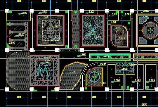 该工程为某地欧式ktv室内装修设计施工图,内容包含平面布置图,天花
