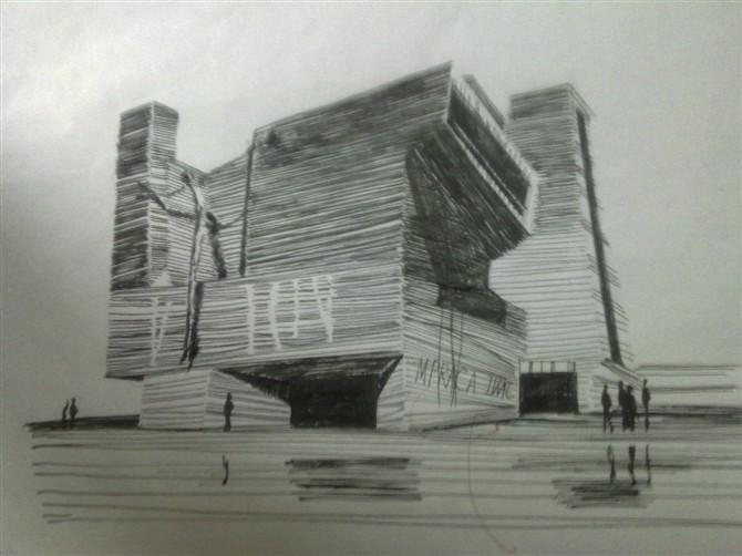小学生上海明珠塔手绘图
