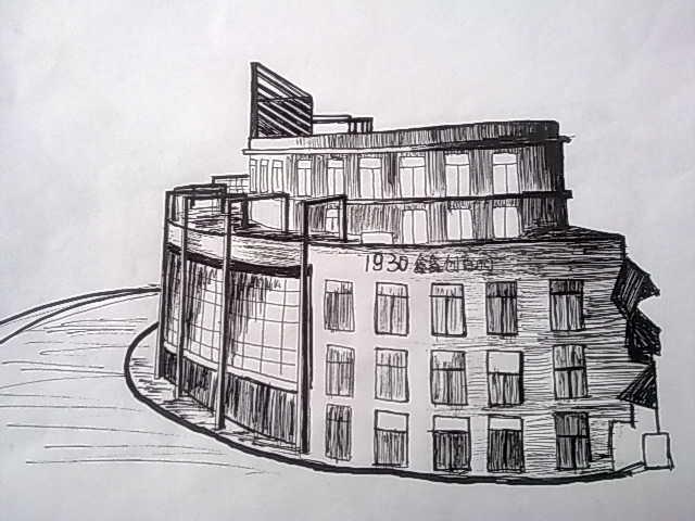 广场设计手绘图 景观小品手绘图